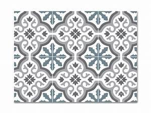 Set De Table Carreau De Ciment : set de table vinyle carreaux de ciment mod le trianon bleu ~ Teatrodelosmanantiales.com Idées de Décoration