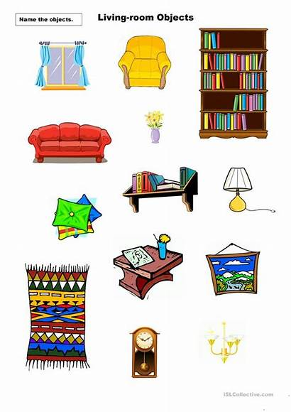 Living Things Worksheet Objects Esl Found Clipart