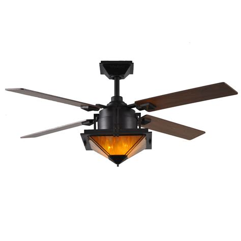 lowes ceiling fans with lights and remote shop harbor breeze san leandro 52 in aged bronze downrod