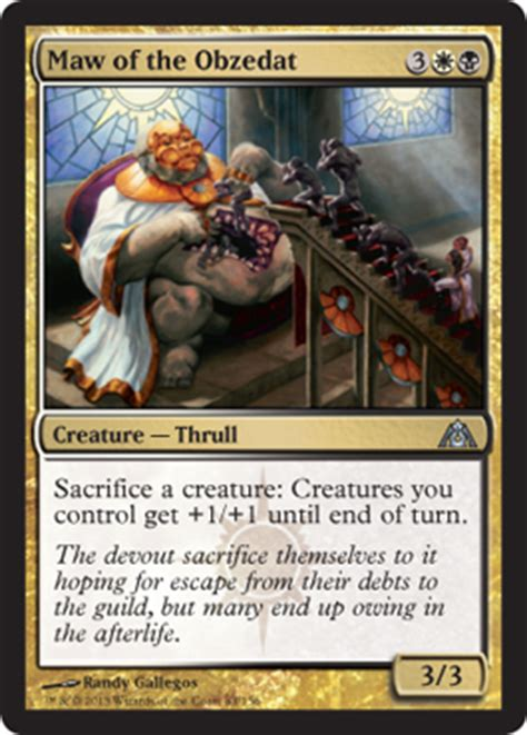 Most Expensive Mtg Deck Modern by Dgm Maw Of The Obzedat New Card Discussion The