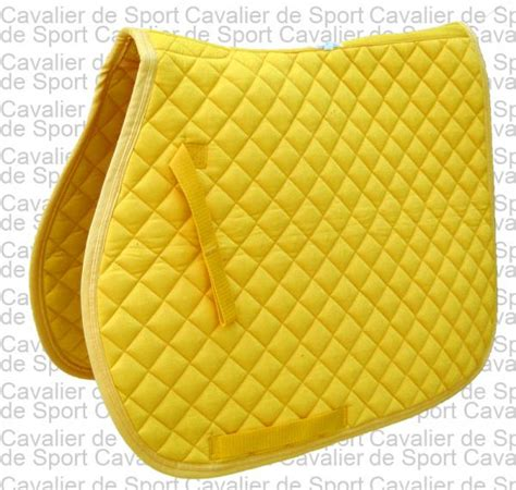 tapis de selle mixte club jaune mixte sellerie cavalier