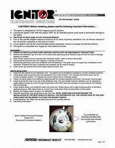 Pertronix Ignitor 1244a User Manual