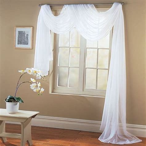 Draped Curtains - valance sheer curtain scarf panel swag voile drape window
