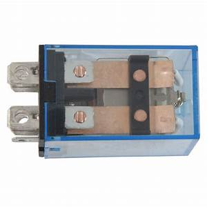 2x Ac24v Coil Voltage Power Relay With 35mm Din Guide Plug