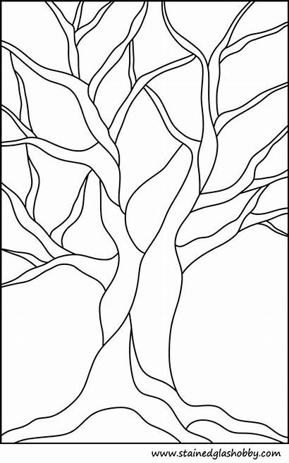 Stained Glass Tree Patterns Printable Pattern Trees