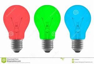 Ampoules A Baionnette Couleur : ampoule de couleur vert bleu rouge photo stock image ~ Edinachiropracticcenter.com Idées de Décoration