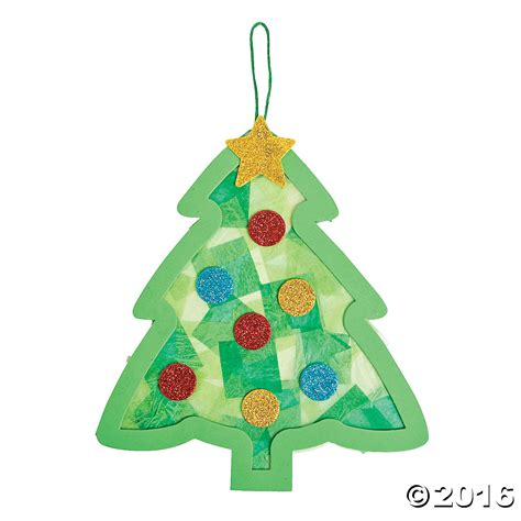 tissue paper christmas tree craft kit 12pk party supplies