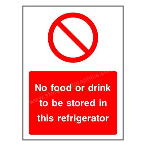 stickers protection cuisine no food or drink in refrigerator sticker hygiene