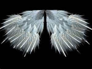 Beautiful White Angel with Wings