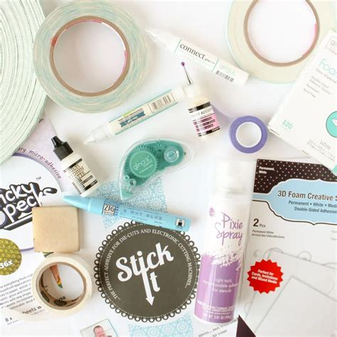 essential adhesive guide  images card making