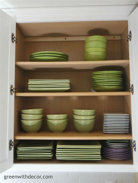 where to put dishes in kitchen cabinets green with decor get storage in the kitchen 2191