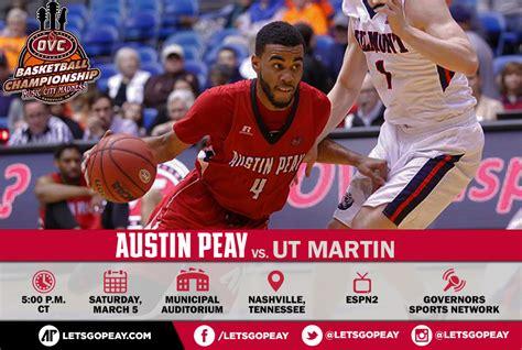 Apsu Basketball Plays Martin For The Ovc Tournament