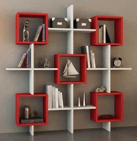 lara bookcase white orange shelving unit book