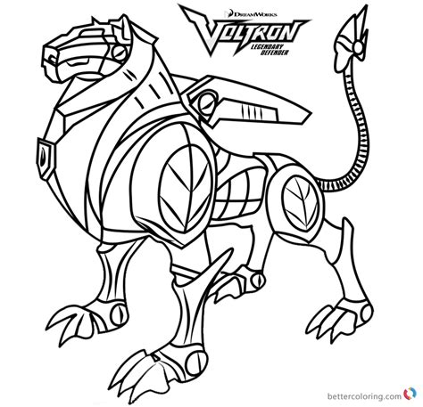 voltron coloring pages black lion  printable