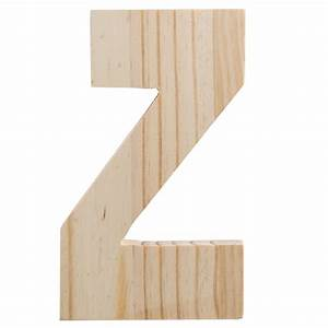 775quot chunky wooden letter z 9190 692z craftoutletcom With wooden letter z