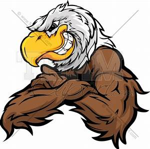 Eagle Cartoon Clipart Image. Easy to Edit Vector Format.