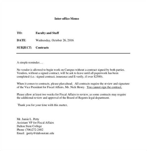 Interoffice Memo Templates  28+ Free Sample, Example