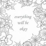 Okay Everything Coloring Enlightened sketch template