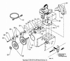 Mtd 315e733e401  1995  Parts Diagram For Engine And V