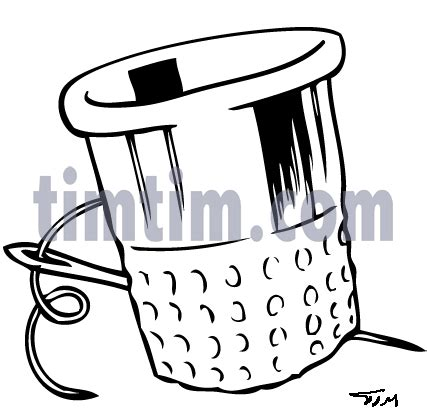 drawing  thimble bw   category hobby sewing timtimcom