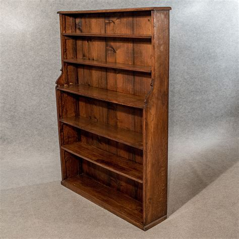 Display Bookcase by Antique Oak 5 Waterfall Open Bookcase Display Shelves
