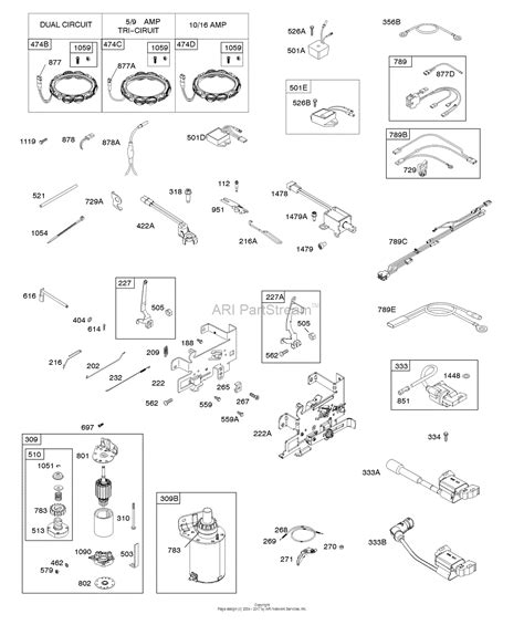 G1 Starter Wiring Diagram by Briggs And Stratton 31r907 0022 G1 Parts Diagram For