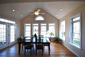 Lighting for a vaulted ceiling mobcart
