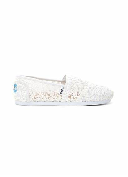 Toms Slip Lace Leaves Classic Sneakers Bridal
