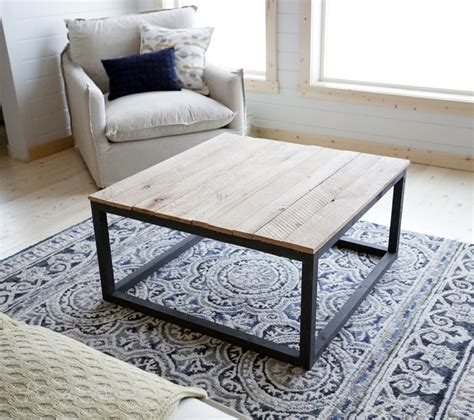 industrial style coffee table    diy network