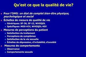 PPT La Qualit De Vie Des Patients Infects Par Le VIH