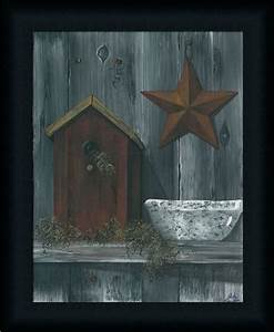 Bird house primitive folk art country framed print