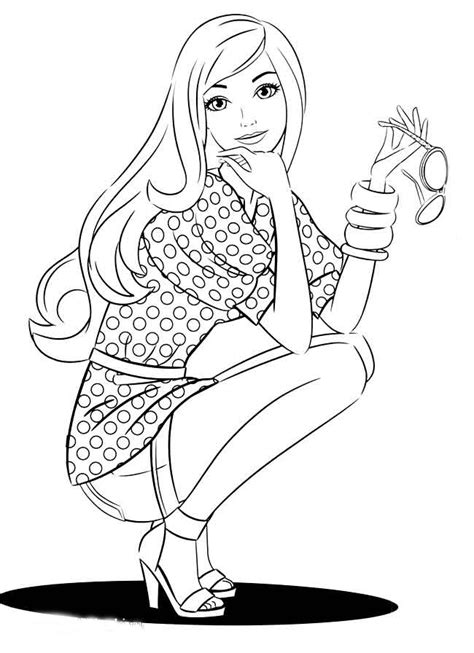fashionista coloring pages    print