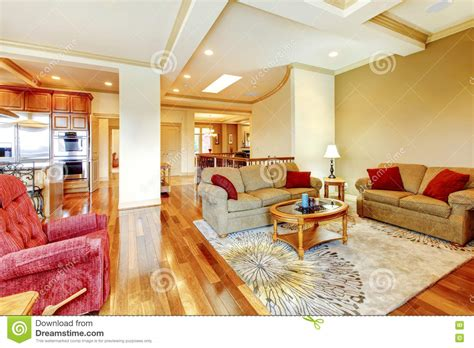 kitchen floor higher than living room bright brown and living room interior with hardwood 9368