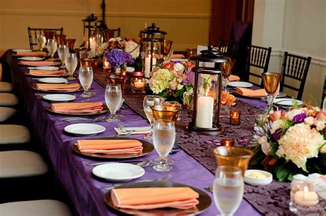 purple and gold table decoration photograph posted by vict