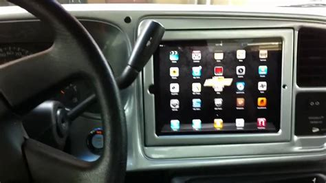 motorized ipad  install  silverado youtube