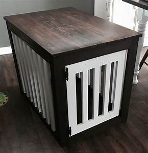 ana white wood dog crate end table diy projects With small dog crate table