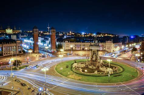Plaza de Espana at night, Barcelona | Barcelona, Spain ...