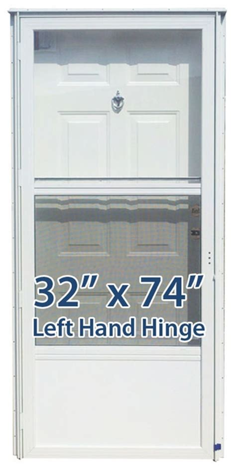 32x74 steel solid door with peephole lh for mobile home