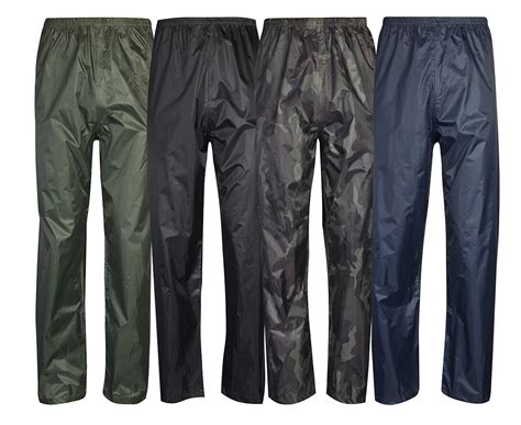 Mens Womens Waterproof Over Trousers Rain Pants Fishing