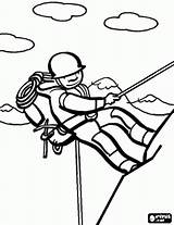 Mountain Coloring Climber Clipart Advertisement Rope sketch template