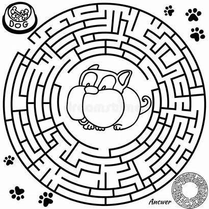 Maze Puzzle Children Funny Preschool Labyrinth