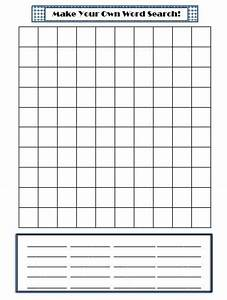 make your own word search template for spelling words for With create your own word search template
