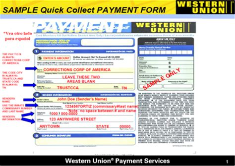 quick collect form searchitfast web western union quick collect form