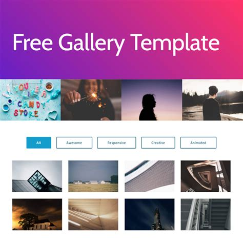 template gallery free html bootstrap photo gallery template