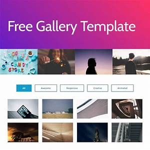 Free html bootstrap list template for Photo gallery html template free download