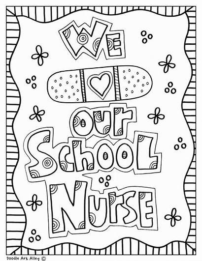 Nurse Coloring Nurses Appreciation Doodles Classroom Nursing