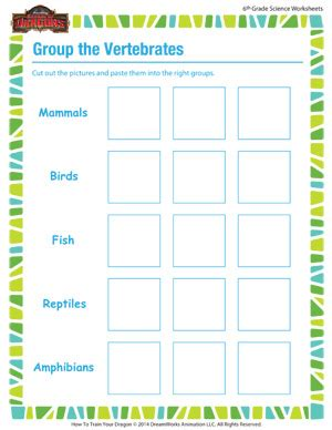 the vertebrates biology for 6th grade school of