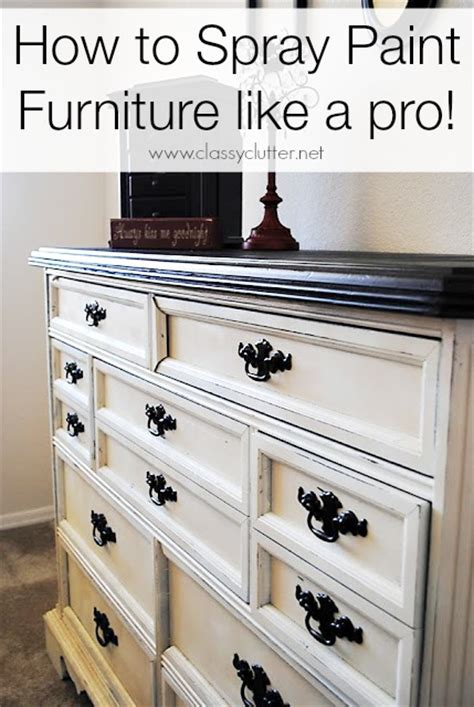 spray paint furniture classy clutter