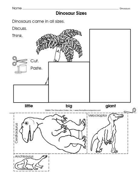 106 best dinosaur preschool theme images on 770 | f8c8b5404d6d9c45b63292dc53015a36 the mailbox math worksheets