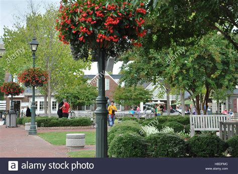 riverwalk landing in yorktown virginia stock photo